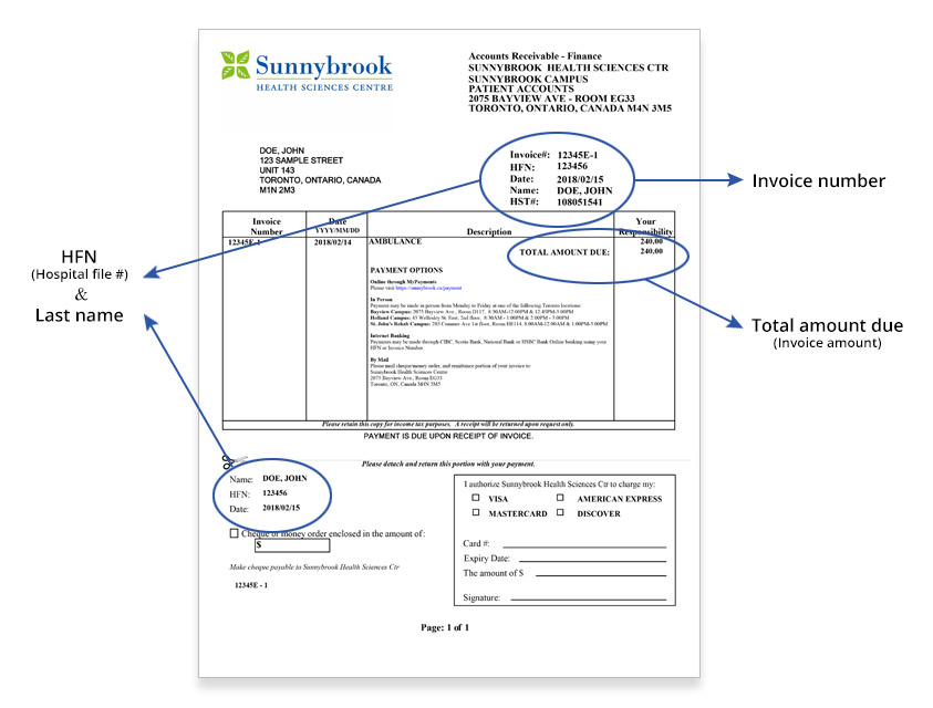 Preview sample invoice