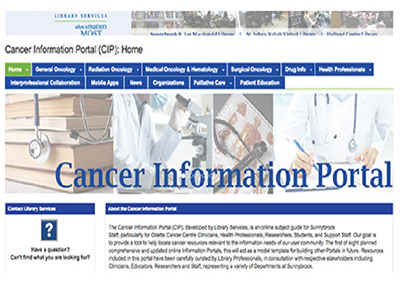 A screenshot of the Cancer Information Portal website