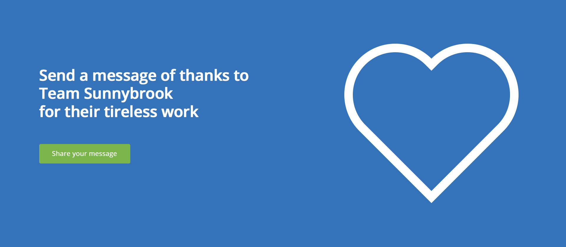 Send a message of thanks to Team Sunnybrook