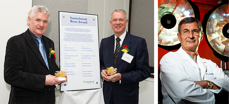 2015 Rose Award recipients, Mr. John McDermott , Mr. David Jackson and Dr. Robert Maggisano