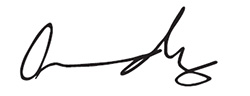 Dr. Andy signature.