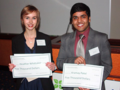 Heather Whittaker, left, and Kramay Patel