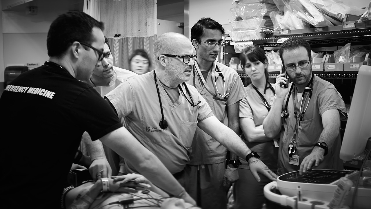 Dr. Jordan Chenkin and his colleagues in Sunnybrook's trauma bay use point-of-care ultrasound to help expedite diagnoses