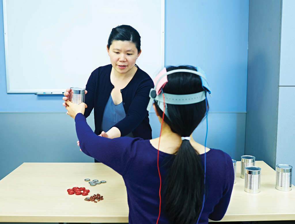 Dr. Joyce Chen researching the use of noninvasive brain stimulation