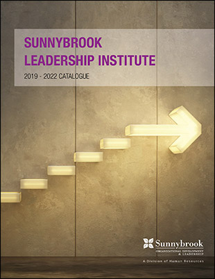 Cover of the Sunnybrook Leadership Institute course catalogue