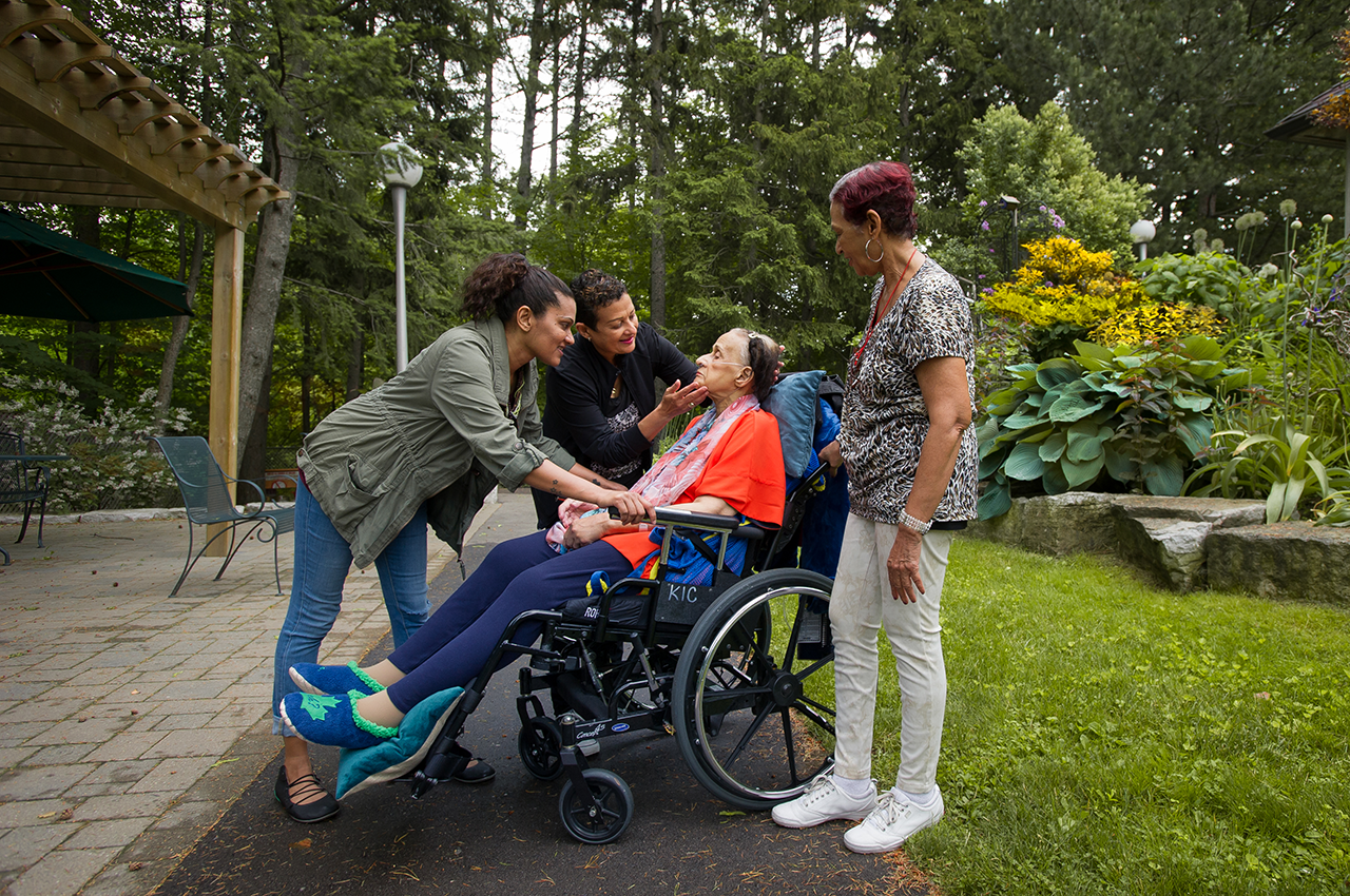 Outdoor photography of patients and family members