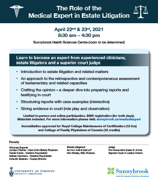 The Role of the Medical Expert in Estate Litigation - Event flyer