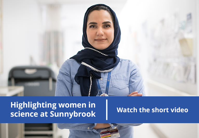 Highlighting women in science at Sunnybrook. Watch the short video