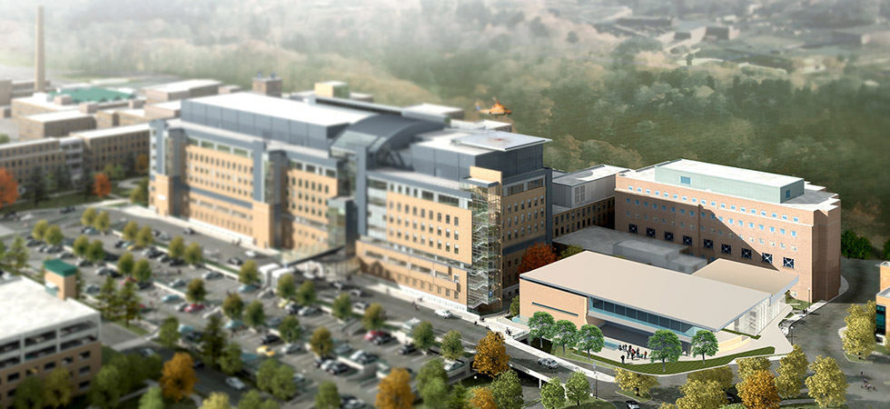 Rendering of the future building