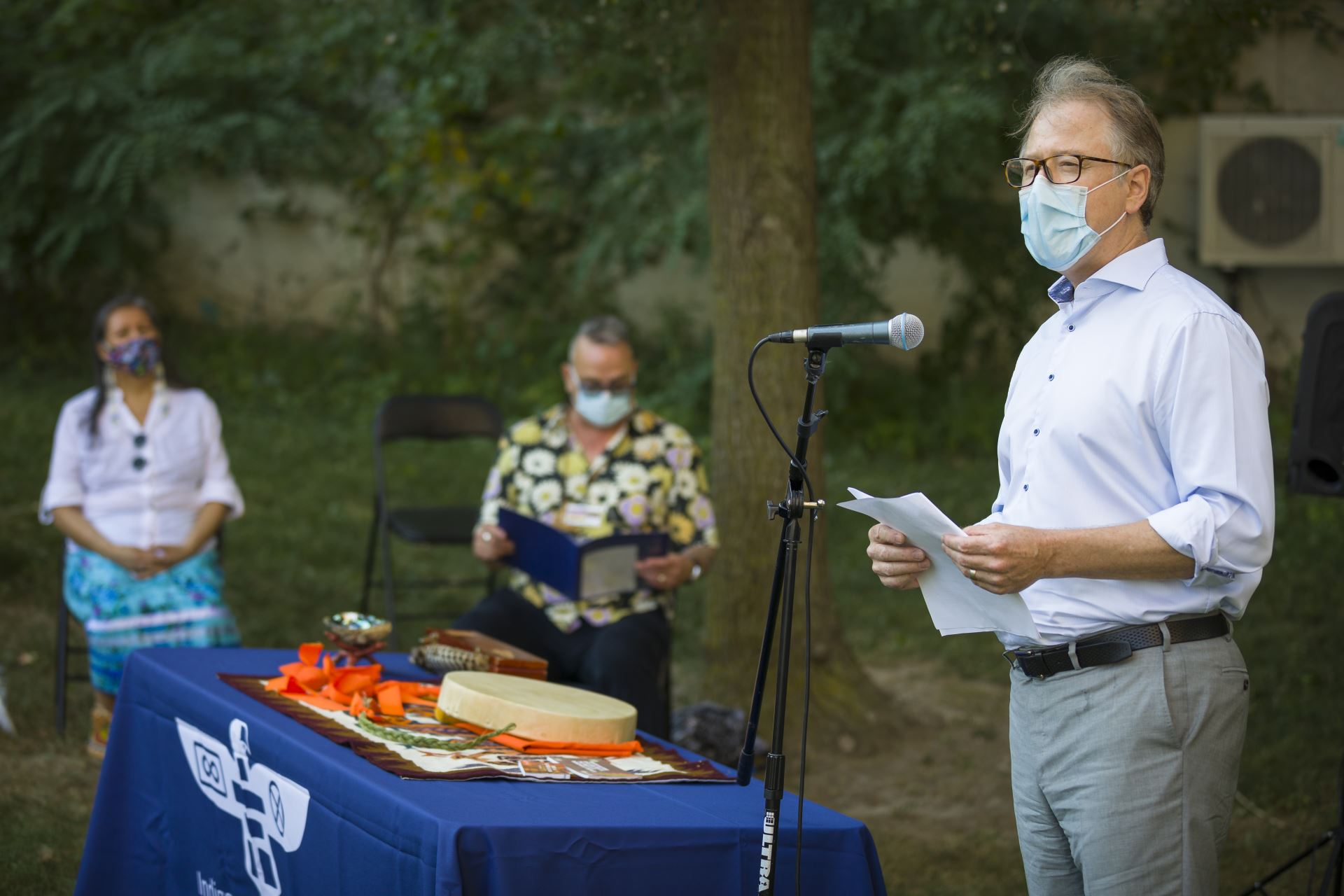 Sunnybrook President and CEO Dr. Andy Smith acknowledges the land.