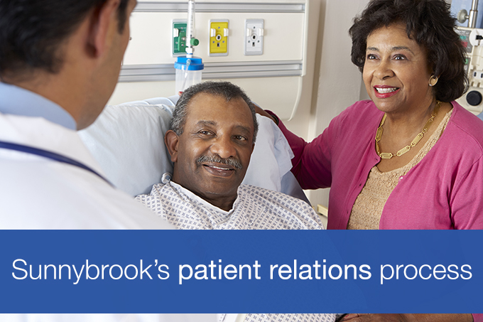 Sunnybrook's patient relations process