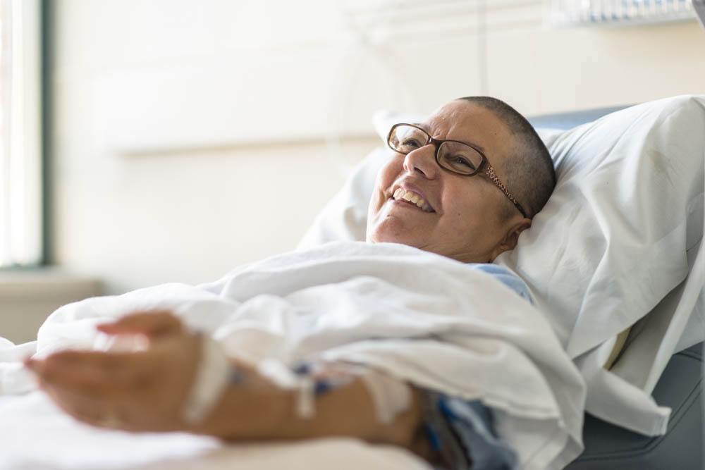Patient receives chemotherapy