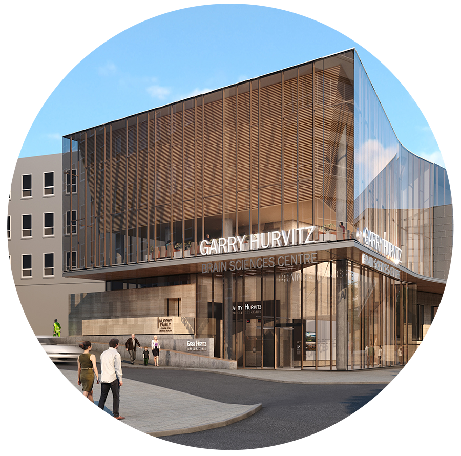Rendering of Garry Hurvitz Brain Sciences Centre https://sunnybrook.ca/content/?page=bsp-garry-hurvitz-brain-sciences-centre