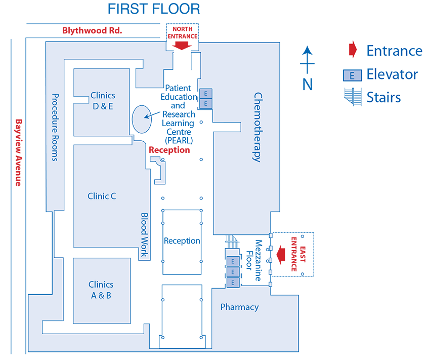 First Floor Odette Cancer Centre