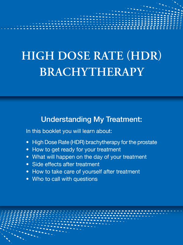 High Dose Rate (HDR) brachytherapy guide