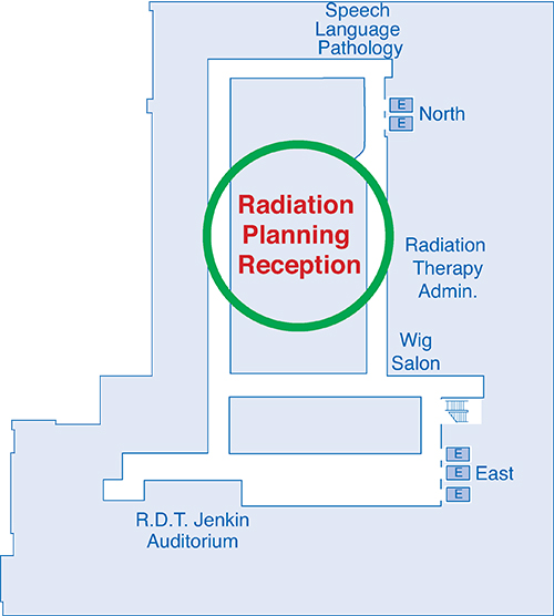 Map indicating radiation planning