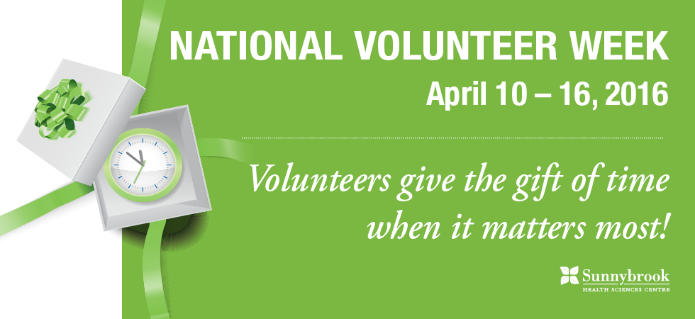 National Volunteer Week: Volunteers give the gift of time when it matters most