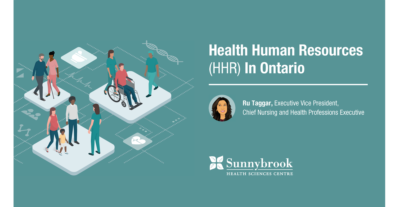 Health Human Resources (HHR) in Ontario. Ru Tagger, Executive Vice President, Chief Nursing and Health Professions Executive.