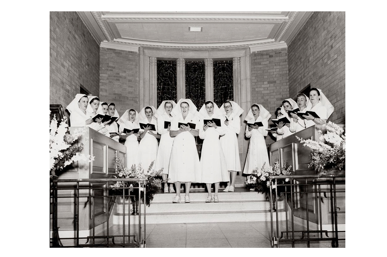 Singing nurses at Sunnybrook chapel.