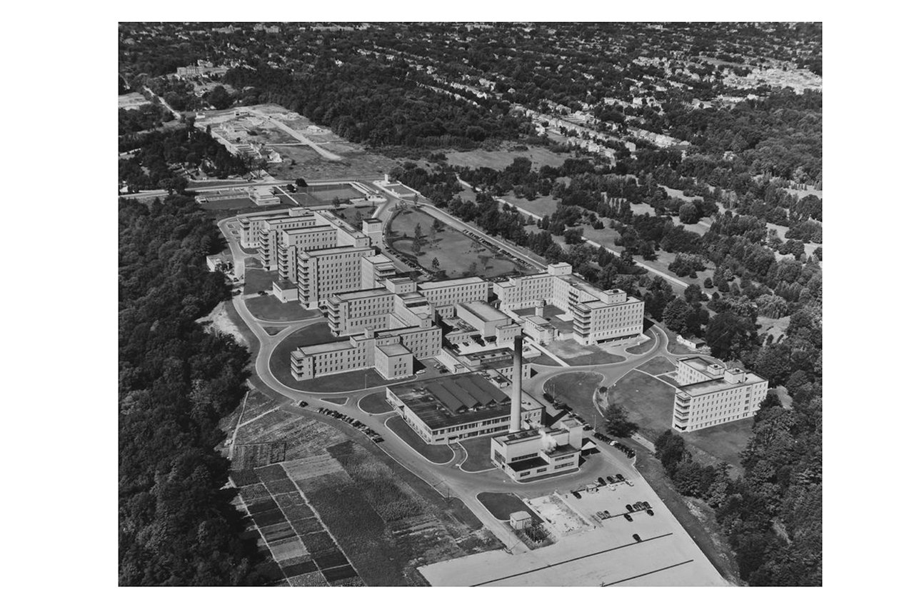 Aerial view of Sunnybrook.