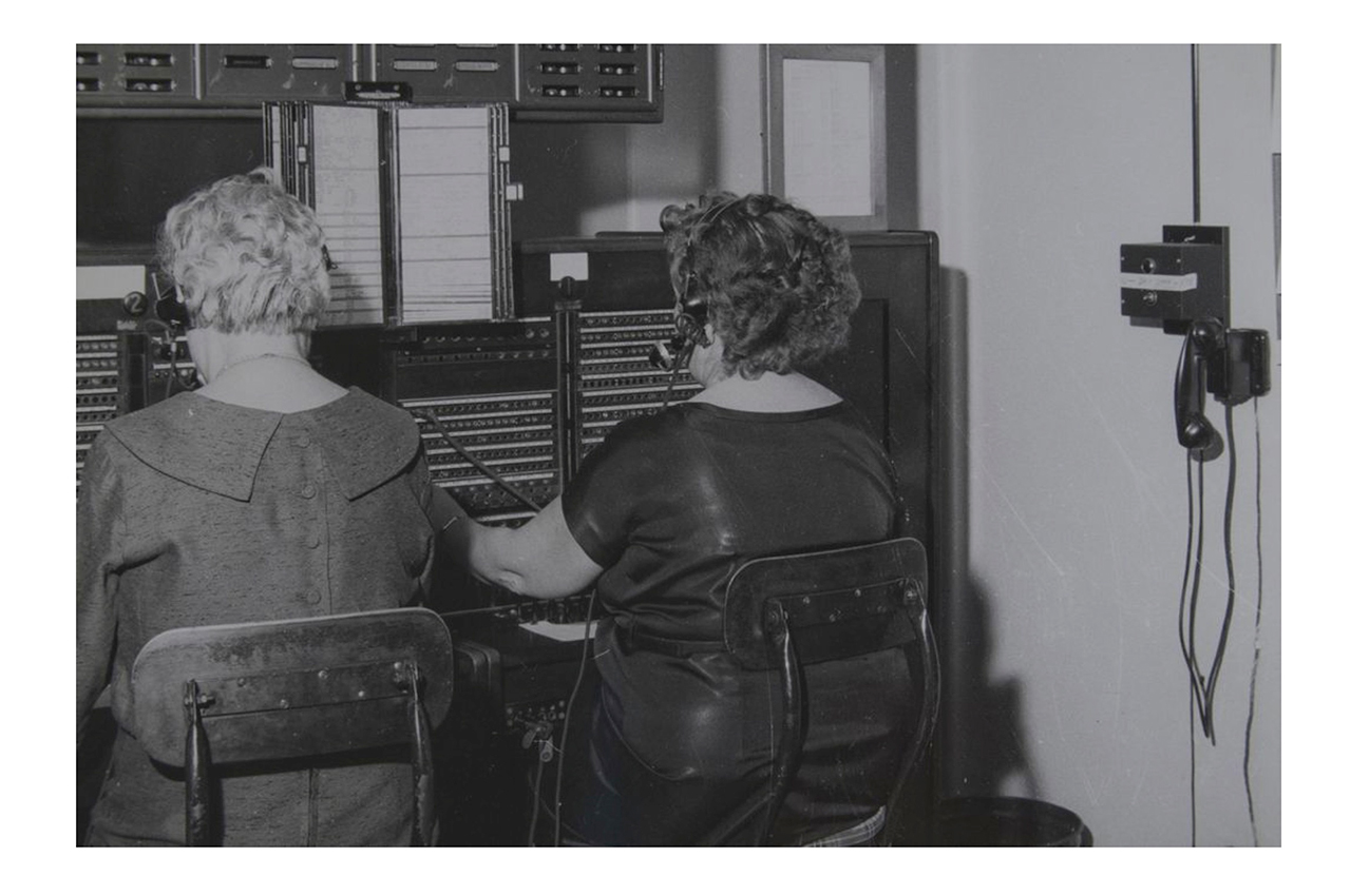 Switchboard at Sunnybrook. 1950-60.