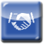 An image of a handshake. Clicking this icon will open a video on allied health opportunities in a pop up window.