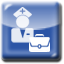 An image of a nurse with a briefcase. Clicking this icon will open a video on nursing management and education opportunities in a pop up window.
