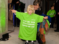 Little girl wearing Sunnybrook Foundation t-shirt