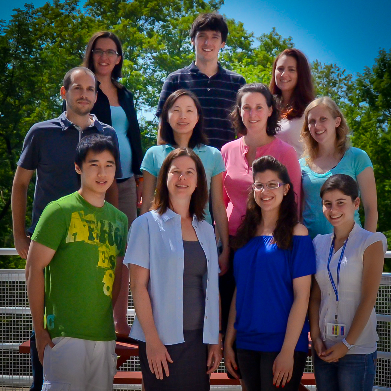 A photo of the members of the Brain Group, taken in summer outside