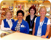 Volunteers in the gift shop.